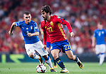 Isco (R) of Spain fights for the ball with Marco Verratti (L) of Italy during their 2018 FIFA World Cup Russia Final Qualification Round 1 Group G match between Spain and Italy on 02 September 2017, at Santiago Bernabeu Stadium, in Madrid, Spain. Photo by Diego Gonzalez / Power Sport Images