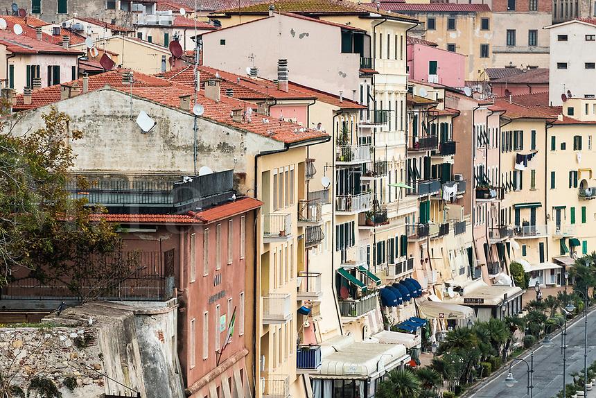 Picturesque town of Portoferraio, Elba, Italy.