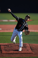 Western Kentucky Hilltoppers starting pitcher Jake Kates (21) in action against the Valparaiso Crusaders at Nick Denes Field on March 19, 2021 in Bowling Green, Kentucky. (Brian Westerholt/Four Seam Images)