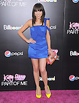 Carly Rae Jepsen at The Paramount L.A. Premiere of Katy Perry : Part of Me held at The Grauman's Chinese Theatre in Hollywood, California on June 26,2012                                                                               © 2012 Hollywood Press Agency