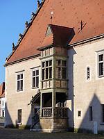 Erker, gotisches Altes Rathaus auf dem Marktplatz, Bardejov, Presovsky kraj, Slowakei, Europa, UNESCO-Weltkulturerbe<br /> Gothic Old townhall, Bardejov, Presovsky kraj, Slovakia, Europe, UNESCO-world heritage