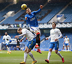 13.02.2021 Rangers v Kilmarnock: Ianis Hagi with Rory McKenzie and Brandon Haunstrup