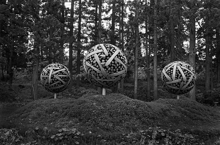 "Art work ""0121-1110=109061"" by Lee Jaehyo for Echigo-Tsumari Art Field Festival in Niigata."