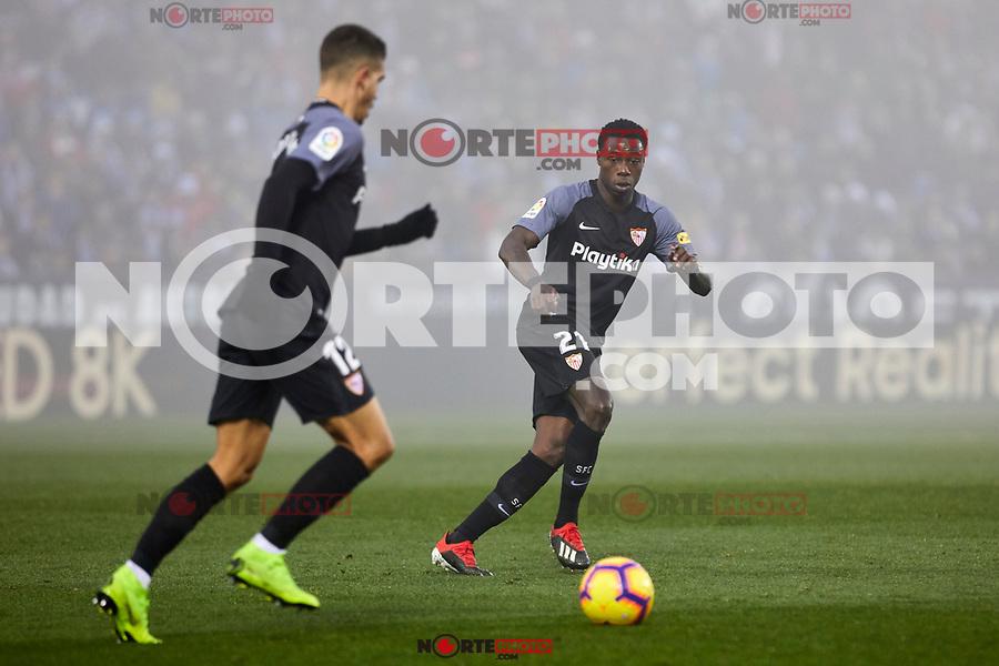 Sevilla FC's Andre Silva (L) and Quincy Promes (R) during La Liga match between CD Leganes and Sevilla FC at Butarque Stadium in Leganes, Spain. December 23, 2018. (ALTERPHOTOS/A. Perez Meca) /NortEPhoto.com