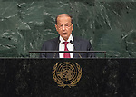 72 General Debate – 20 September <br /> <br /> His Excellency General Michel Aoun, President of the Republic of Lebanon
