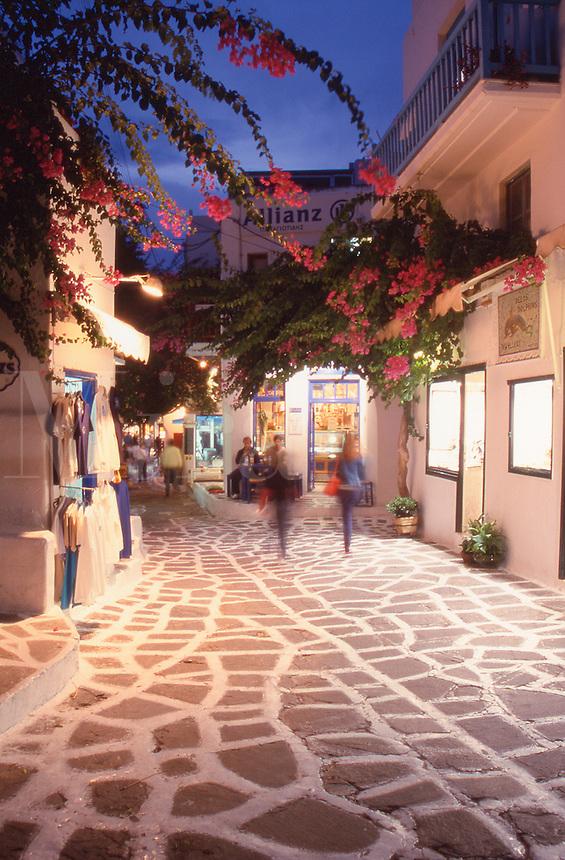 Greece MykonosTown at dusk
