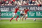 Gouaida (am Ball) wird von zwei Kaiserslautern Spielern unter Druck gesetzt beim Spiel in der 3. Liga, 1. FC Kaiserslautern - SV Waldhof Mannheim.<br /> <br /> Foto © PIX-Sportfotos *** Foto ist honorarpflichtig! *** Auf Anfrage in hoeherer Qualitaet/Aufloesung. Belegexemplar erbeten. Veroeffentlichung ausschliesslich fuer journalistisch-publizistische Zwecke. For editorial use only. DFL regulations prohibit any use of photographs as image sequences and/or quasi-video.