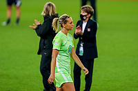 30th August 2020, San Sebastien, Spain;  Lena Goesling Wolfsburg during the presentation after the UEFA Womens Champions League football match Final between VfL Wolfsburg and Olympique Lyonnais.