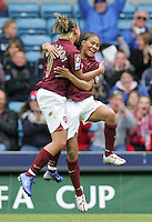 Arsenal vs Leeds United - Womens FA Cup Final at Millwall Football Club - 01/05/06 - Lianne Sanderson (left) is the first to congratulate Mary Phillip on her goal for the Gunners - (Gavin Ellis 2006)