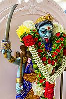 Goddess Kali in the Hindu Sri Maha Muneswarar Temple, Kuala Lumpur, Malaysia.