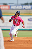 Pensacola Blue Wahoos Mark Contreras (5) running the bases during a Southern League game against the Mobile BayBears on July 25, 2019 at Blue Wahoos Stadium in Pensacola, Florida.  Pensacola defeated Mobile 2-1 in the first game of a doubleheader.  (Mike Janes/Four Seam Images)