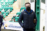 Hibs v St Johnstone…01.05.21  Easter Road. SPFL<br />Zander Clark arrives at Easter Road for todays game against Hibs<br />Picture by Graeme Hart.<br />Copyright Perthshire Picture Agency<br />Tel: 01738 623350  Mobile: 07990 594431