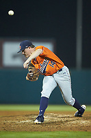 Auburn Tigers relief pitcher Elliott Anderson (14) in action against the Army Black Knights at Doak Field at Dail Park on June 2, 2018 in Raleigh, North Carolina. The Tigers defeated the Black Knights 12-1. (Brian Westerholt/Four Seam Images)
