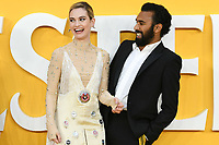 """Lily James and Himesh Patel<br /> arriving for the """"Yesterday"""" UK premiere at the Odeon Luxe, Leicester Square, London<br /> <br /> ©Ash Knotek  D3510  18/06/2019"""