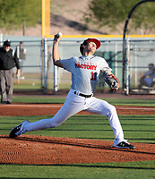 Jared Jones takes part in the 2019 Under Armour Pre-Season All-America Tournament at the Chicago Cubs and Oakland Athletics training complexes on January 19-20, 2019 in Mesa, Arizona (Bill Mitchell)