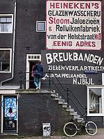 Wandbild an der Wijzelgracht, Amsterdam, Provinz Nordholland, Niederlande<br /> mural at Wijzelgracht, Amsterdam, Province North Holland, Netherlands