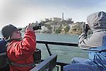 Alcatraz Island on a night tour.
