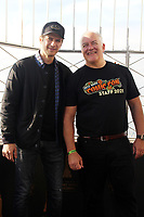 NEW YORK, NY - OCTOBER 8: Hayden Christensen and Hugh Jones, CEO of Reed Pop, visit the Empire State Building to celebrate New York Comic Con 2021 in New York City on October 8, 2021. <br /> CAP/MPI/RTNEKP<br /> ©EKP/RTNMPI/Capital Pictures