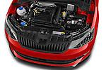 Car Stock 2016 Skoda Fabia Monte-Carlo 5 Door Hatchback Engine  high angle detail view