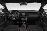 Stock photo of straight dashboard view of 2019 Skoda Kodiaq RS 5 Door SUV Dashboard
