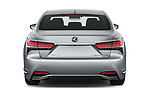 Straight rear view of a 2019 Lexus LS  Executive 4 Door Sedan stock images