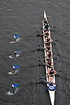 Lake Washington Rowing Club, Master's mixed eight oared racing shell, winning Opening Day Regatta, Windermere Cup, Seattle, Washington,