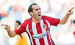 Diego Roberto Godin Leal of Atletico de Madrid celebrates during their La Liga match between Atletico de Madrid and Sevilla FC at the Estadio Vicente Calderon on 19 March 2017 in Madrid, Spain. Photo by Diego Gonzalez Souto / Power Sport Images