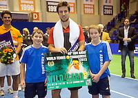 15-12-12, Rotterdam, Tennis Masters 2012, Winnaar Igor Sijsling ontvangt een wildcard voor het ABNAMROWTT