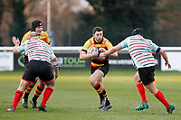 Tom Hodgson of Richmond Rugby Tom Hodgson of Richmond Rugby attacking during the English National League match between Richmond and Blackheath  at Richmond Athletic Ground, Richmond, United Kingdom on 4 January 2020. Photo by Carlton Myrie.