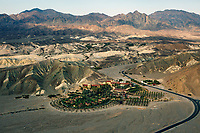 aerial photograph of the Oasis at Death Valley, formerly called the Furnace Creek Inn and Ranch Resort, Death Valley National Park, California
