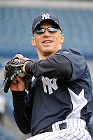 Feb 24, 2010; Tampa, FL, USA; New York Yankees  manager Joe Girardi (28) during  team workout at George M. Steinbrenner Field. Mandatory Credit: Tomasso De Rosa/Four Seam Images
