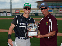 Wharton Wildcats infielder Zach Ehrhard (14) receives the Most Valuable Player Award after the 42nd Annual FACA All-Star Baseball Classic on June 6, 2021 at Joker Marchant Stadium in Lakeland, Florida.  (Mike Janes/Four Seam Images)