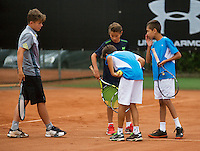 August 6, 2014, Netherlands, Rotterdam, TV Victoria, Tennis, National Junior Championships, NJK,  line discussion<br /> Photo: Tennisimages/Henk Koster