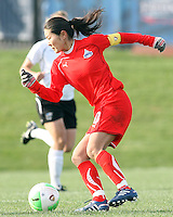 Homare Sawa #10 of the Washington Freedom controls the ball against the Philadelphia Independence during a WPS pre season match at the Maryland Soccerplex on March 27 2010 in Boyds, Maryland. The game ended in a 0-0 tie.