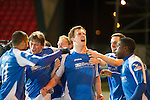 St Johnstone v Dundee United.....01.04.13      SPL.Liam Craig celebrates his late equaliser which guarantee's saints a top six place.Picture by Graeme Hart..Copyright Perthshire Picture Agency.Tel: 01738 623350  Mobile: 07990 594431