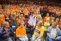 15-sept.-2013,Netherlands, Groningen,  Martini Plaza, Tennis, DavisCup Netherlands-Austria, Robin Haase mingles with wheelchair fans<br /> Photo: Henk Koster