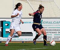 Christie Rampone, Sara Bjork Gunnarsdottir.  The USWNT defeated Iceland, 1-0, at Ferreiras, Portugal.