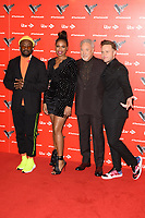 """Will.i.am, Jennifer Hudson, Sir Tom Jones and Olly Murs<br /> at the launch photocall for the 2019 series of """"The Voice"""" London<br /> <br /> ©Ash Knotek  D3468  03/01/2019"""
