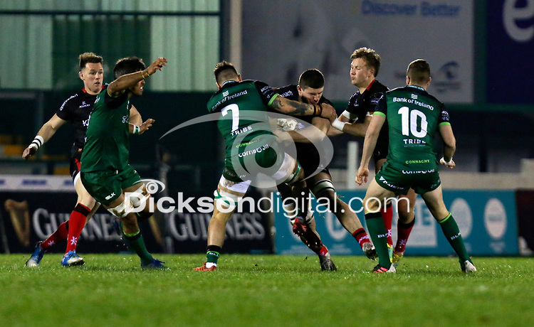 27th December 2020 | Connacht  vs Ulster <br /> <br /> Nick Timoney is tackled by Conor Oliver during the PRO14 Round 9 clash again Connacht at the Sportsground in Galway, Ireland. Photo by John Dickson/Dicksondigital
