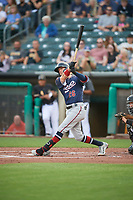 Jake Hager (26) of the Reno Aces at bat against the Salt Lake Bees at Smith's Ballpark on August 24, 2021 in Salt Lake City, Utah. The Aces defeated the Bees 6-5. (Stephen Smith/Four Seam Images)