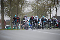 Gent-Wevelgem 2013.2nd echelon trying to catch the 1st. Some major names in here..