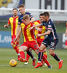04.05.2018 Partick Thistle v Ross County: Andrew McCarthy with Jamie Lindsay and Alex Schalk