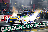Oct 11, 2019; Concord, NC, USA; NHRA funny car driver Ron Capps during qualifying for the Carolina Nationals at zMax Dragway. Mandatory Credit: Mark J. Rebilas-USA TODAY Sports