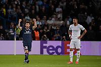 28th September 2021, Parc des Princes, Paris, France: Champions league football, Paris-Saint-Germain versus Manchester City:   PSG players celebrate the goal for 2-0 from Lionel Leo Messi ( 30 - PSG )