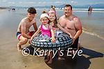 Enjoying Banna beach on Saturday, l to r:   Dylan, Shauna, Grace and Seamus O'Connor
