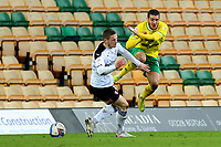 20th February 2021; Carrow Road, Norwich, Norfolk, England, English Football League Championship Football, Norwich versus Rotherham United; Ben Wiles of Rotherham United fouls Emi Buendia of Norwich City