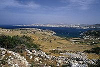 St. Paul's Bay and Mistra Bay, Malta.  In the fall of 60 AD Saint Paul was shipwrecked in the bay currently bearing his name.  In 1090 AD Count Roger I, a Norman, landed a small naval force here as part of a successful campaign to end 220 years of Arab rule over Malta.  In the summer of 1565 more than 3000 Turks were slaughtered on the beach by the forces of Admiral Piali following the Turkish defeat in the Great Siege of Malta.  Napoleon disembarked troops here at night in June of 1798.  Admiral Nelson supplied his ships here during the British naval blockade of Malta 1798-1800.