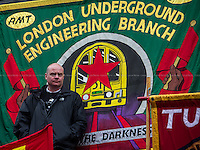Steve Hedley (RMT Assistant General Secretary).<br />