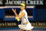 Laura Robson (GBR)  wins at Australian Open in Melbourne Australia on 17th January 2013