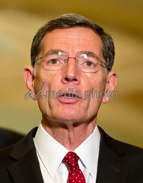 United States Senator John Barrasso (Republican of Wyoming) speaks to reporters following the Republican Party luncheon in the United States Capitol in Washington, DC on Tuesday, June 27, 2017. Photo Credit: Ron Sachs/CNP/AdMedia